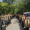 Record-Eagle/Keith King<br /> Students walk toward Kresge Auditorium prior to the start of the Traverse City Central High School commencement at the Interlochen Center for the Arts.