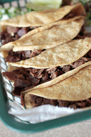 Record-Eagle/Jan-Michael Stump<br /> Carne asada tacos at Osorio Tacos Y Salsas in Acme.