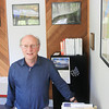 Record-Eagle/Keith King<br /> Jim Olson, president of FLOW (For Love of Water) at the FLOW office in downtown Traverse City.
