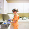 Record-Eagle/Keith King<br /> Andrea Kite, medical assistant, performs a lab at West Front Primary Care in Traverse City.