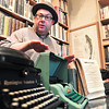 Record-Eagle/Nathan Payne<br /> Landmark Books owner Paul Stebleton explains the difference between typing on modern keyboards and typewriters.