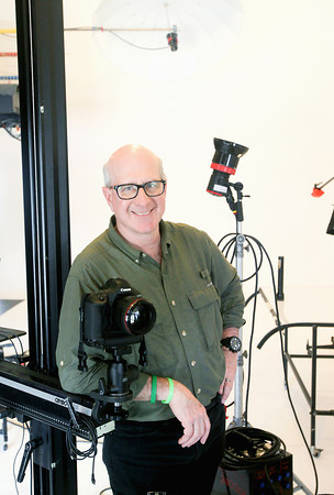 Record-Eagle/Keith King<br /> John Robert Williams, photographer and owner of John Robert Williams Photography, in his studio in Traverse City.