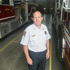 Record-Eagle/Keith King<br /> Keith Tampa, fire chief, stands at the Elmwood Township Fire and Rescue Department.