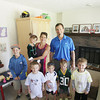 Record-Eagle/Keith King<br /> Jeremy and Tonya Lewandowski, of Traverse City, pose for a photograph with their children, Aiden, from left, 9, Summer, 4, Brock, 4, Cameron, 4, Dane, 4 and Caleb, 7, Friday, June 14, 2013 at their home.