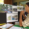 Record-Eagle/Vanessa McCray<br /> Traverse City Planner Russ Soyring explains details of a bayfront park redesign project expected to begin construction after Labor Day.