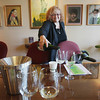 Record-Eagle/Keith King<br /> Claudia Tyagi, master sommelier, pours wine Thursday, May 23, 2013 in preparation for a preview tasting of a variety of wines at the Village at Grand Traverse Commons in Traverse City. The event took place prior to the Winemakers Party scheduled for Friday, June 21, 2013  which will take place prior to the Traverse City Wine and Art Festival scheduled for Saturday, June 22, 2013.