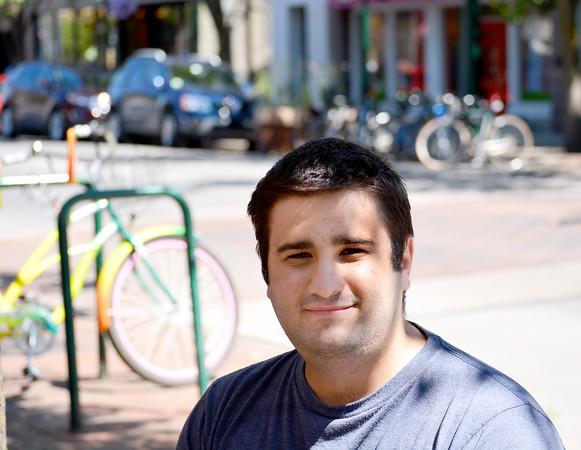 Record-Eagle/Dan Nielsen<br /> Sam Perfanov, of Chicago, spent four days visiting Traverse City last week.