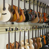 Record-Eagle/Keith King<br /> Guitars are displayed for sale at Traverse City Guitar Company in downtown Traverse City.