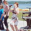 Record-Eagle/Marta Hepler Drahos<br /> Left to right, Sharron May, Renee Herman, Angie Berle and Derrick Hall perform at a Gospel Brunch event on June 22 at Clinch Park.