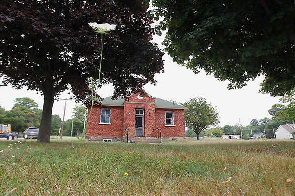 Record-Eagle file photo/Jan-Michael Stump<br /> Parts of the old courthouse in leland once again are on the market.