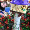 Record-Eagle/Nathan Payne<br /> Scot Thompson works through the construction of his part of the LEGO exhibit at The History Center of Traverse City. The nautical-themed exhibit opens Tuesday and runs through Sept. 1.