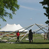 Record-Eagle/Keith King<br /> Preparations take place at the Open Space for the National Cherry Festival which is scheduled to begin July 5.