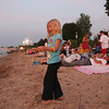 Record-Eagle/Keith King<br /> Ava Alexander, 5, of Traverse City, walks with sparklers Thursday, July 4, 2013 at West End Beach prior to the start of the Fourth of July fireworks at West Grand Traverse Bay.