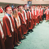 Record-Eagle/Keith King<br /> Graduating seniors and attendees gather for the Traverse City Christian High School commencement at East Bay Calvary Church.