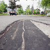 Record-Eagle/Keith King<br /> A section of pavement Monday, June 10, 2013 on 11th Street in Traverse City.