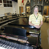 Record-Eagle/Keith King<br /> Retiring choir director, Russ Larimer, stands Wednesday, June 12, 2013 at Traverse City West High School.