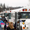 Record-Eagle/Keith King<br /> Bay Area Transportation Authority buses wait Monday, March 11, 2013 as students leave Suttons Bay Public Schools.