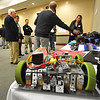 Record-Eagle/Dan Nielsen<br /> Representatives from the Michigan Technology Academy demonstrate tools the organization uses to engage students during the Grand Traverse Area Manufacturing Council 2017 Summit.