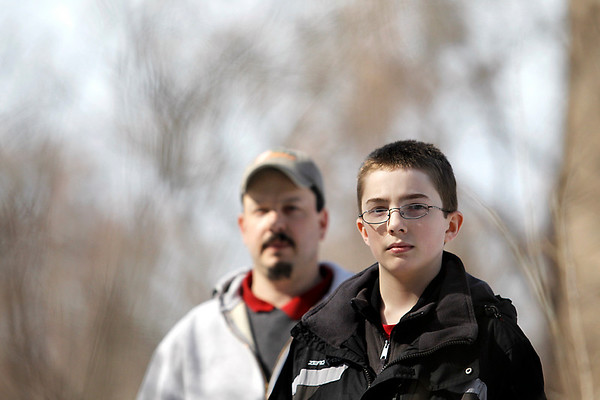Record-Eagle/Jan-Michael Stump<br /> Andy Marek and his son, Jerry, are advocating for stronger anti-bullying policies in Traverse City Area Public Schools.