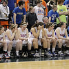 Record-Eagle/Keith King<br /> Central Lake players watch during the final seconds of their game against Waterford Our Lady of the Lakes Thursday, March 17, 2011 during the Class D state semifinal game in East Lansing.