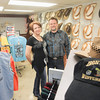 Record-Eagle/Keith King<br /> Shellie Milhone and Gary Taylor, co-owners, stand Friday at Ironhorse Western and Cycle Wear in Traverse City.