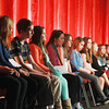 Record-Eagle/Keith King<br /> Participants wait their turn to spell a word Sunday during the 2014 Grand Traverse Regional Spelling Bee at the State Theatre in Traverse City.