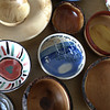 Record-Eagle/Nathan Payne<br /> An array of bowls sit on a table at Goodwill Industries. The non-profit organization plans to auction 1,000 bowls at its fundraiser next month.