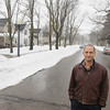 Record-Eagle/Keith King<br /> Mike Powers, president of the North Traverse Heights Neighborhood Association, stands Tuesday, March 12, 2013 at the intersection of Lincoln Street and Fern Street in Traverse City.