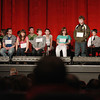 Record-Eagle/Keith King<br /> Gavin Coan spells a word Sunday, March 17, 2013 during the 2013 Grand Traverse Regional Spelling Bee at the State Theatre in Traverse City.