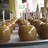 Record-Eagle/Glenn Puit<br /> Carmel apples on display in Kilwin's downtown Traverse City location.