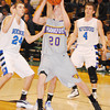 James Cook<br /> Frankfort's Owen Stratton tries to break down the Wyoming Tri-unity defense in Tuesday's Class D quarterfinal at Comstock Park.