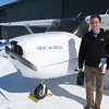 Record-Eagle/Michael Walton<br /> Will Bennett stands with a Cessna 172 before a practice flight Wednesday afternoon. Bennett is one of eight Northwestern Michigan College Aviation Program students scheduled for a job interview with a Texas-based regional airline based on a partnership between NMC and the airline.