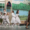 Record-Eagle/Keith King<br /> Children playing the part of the von Trapp children, sing, along with Alexandra Gude, right, playing the part of Maria, Thursday at the Old Town Playhouse during rehearsal for The Sound of Music.