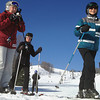 "Record-Eagle/Nathan Payne<br /> Karen Keranen, left, straps on her helmet before hitting the slopes at Crystal Mountain Resort and Spa with a group of ""Retired not Tired"" ski club members. An accomplished instructor, Keranen is one of a handful of leaders who help reintroduce seniors to downhill skiing."