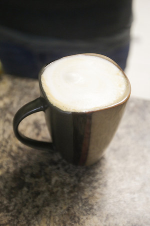 Record-Eagle/Keith King<br /> A cappuccino is made Monday in the cafe at Charlie's Natural Food Market in Frankfort.