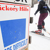 Record-Eagle/Keith King<br /> Skiers make their way toward a rope tow at Hickory Hills Ski Area in Traverse City.