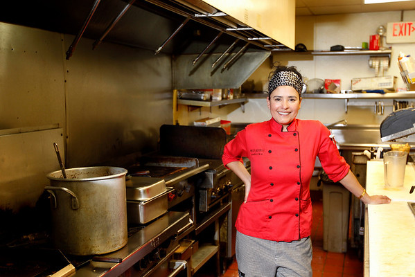 Record-Eagle/Jan-Michael Stump<br /> Fresia Granados is a personal chef when she isn't preparing food from her native Costa Rica at Scott's Harbor Grill on Thursdays.