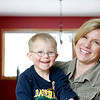 Record-Eagle/Jan-Michael Stump<br /> Heidi Mueller, here with son Joshua, will be representing the Down Syndrome Association of Northwest Michigan at Wednesday's VSA Arts of Michigan workshop.