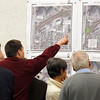 Record-Eagle/Jan-Michael Stump<br /> People look over options for the proposed Boardman Lake Avenue during Tuesday's public meeting.