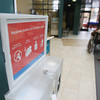 Record-Eagle/Keith King<br /> A hygiene station stands Monday, March 11, 2013 in the lobby at Munson Medical Center.