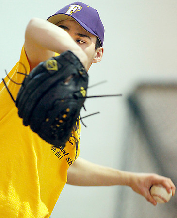 Record-Eagle/Jan-Michael Stump<br /> Kyle Zimmerman, a three-time All -State pitcher, is preparing for his senior season. The lefthanded pitcher is headed to Wayne State in the fall.