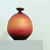 "Record-Eagle/Keith King<br /> A pottery piece created by Tom Krueger titled ""Copper Glow."""