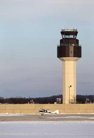 Record-Eagle/Jan-Michael Stump<br /> The air traffic control tower at Traverse City's Cherry Capital Airport.
