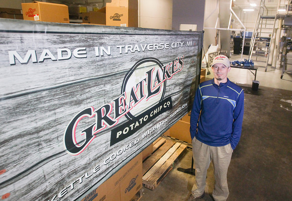 Record-Eagle/Keith King<br /> Kevin Paveglio, operations coordinator at the Great Lakes Potato Chip Company in Long Lake Township.