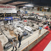 Record-Eagle/Keith King<br /> Boats are displayed during the opening day of the Traverse City Boat and Outdoor Show at the Grand Traverse County Civic Center in Traverse City. The event is scheduled to run through Sunday.