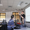Record-Eagle/Keith King<br /> Tony Sauerbrey, Northwestern Michigan College (NMC) Unmanned Aerial Systems (UAS) program manager, teaches a UAS class Tuesday, April 2, 2013 at the Parsons-Stulen Building on NMC's Aero Park Campus in Traverse City.