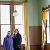 Record-Eagle/Jan-Michael Stump<br /> Jackie Smith, left, and Donna Sayler, vice president and president of the Yuba Historic Society, respectively, stand in the old Yuba School, which they both attended and are working to restore into a museum and community center.