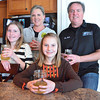 "Record-Eagle/Allison Batdorff<br /> The Murphy family considers kombucha the family ""nightcap."" Center to left: Tatum, 11, Quinn, 13, Audri and Rick Murphy in their Traverse City home."
