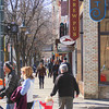 Record-Eagle/Keith King<br /> Pedestrians travel through downtown Traverse City in the sun as temperatures reach the 50s.