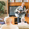 Record-Eagle/Keith King<br /> Mary Sue Wilkinson, owner of Young at Heart Music, performs in the supportive care unit of the Orchard Creek Care Facilities in Elmwood Township.